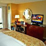 Room 634 view torwards TV and work area