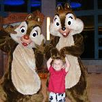Chipmunks with one of the Kids
