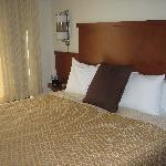 The very comfortable bed at Hyatt Place.