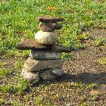 Inukshuk wecomes weary travellers