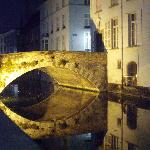 The canal bridge at the back of the hotel.