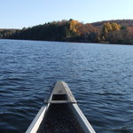 Kashagawigamog lake in the canoe