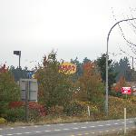 Denny's across the road
