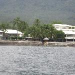 the Resort from afar
