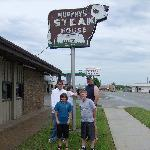 Us at Murphy's, a must stop to eat
