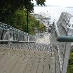 View of stairs looking down