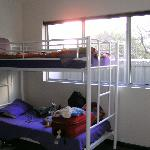 Bunk beds in 4 person dorm
