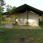 Our tent (luxury as standard!)