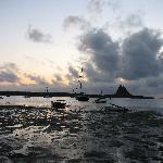 Lindisfarne at daybreak