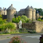 View of one of the castles at Lassay les Chateaux ,