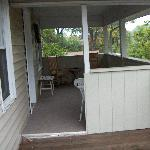 The deck leading into the WildFlower Cottage at The Chimney Rock Inn 10-17-08