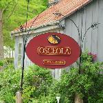 Outdoor sign at Osceola Mill Restaurant