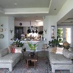 open-air sitting area & BEAUTIFUL kitchen