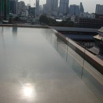 View from rooftop pool bar
