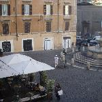 View from room overlooking the piazza dei monti