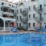 Balconies from smaller pool