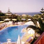 The pool from th balcony