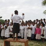Sunday school kids singing