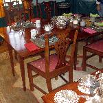 Dining Room ready for breakfast