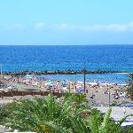 La plage depuis l'hôtel