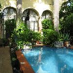 Pool and back of main house