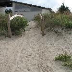 Clean bathrooms on public side of Sauble Beach