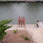 My sisters and I on the dock
