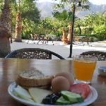 Simple breakfast, stunning view
