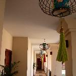 Corridor and lanterns