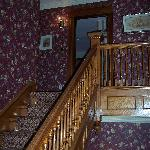 Stairs leading to 3 restful rooms