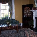 front parlor in historic part of hotel