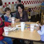 Kids meals including giant hot dogs and grilled cheese at Five Guys in Lynchburg