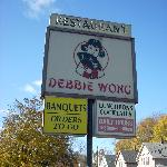 The sign at Debbie Wong.
