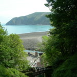 Cliff railway looking down on lynmouth