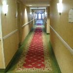 Clean, bright, enclosed hallways