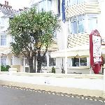 entrance to hotel