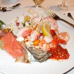 a plate of the starters