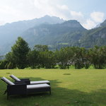 View to teh reichenbach Falls from the Southern relax & chill garden