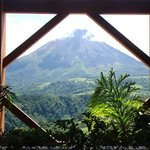 View of Arenal Volcano from the resort lobby