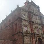 The tall, magnificent, old but grand, Church at Goa.