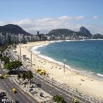 copacabana beach from rio guest house