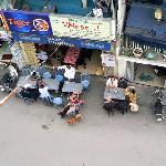 Cafe opposite hotel