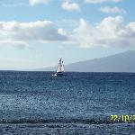 Sailboat from our lanai
