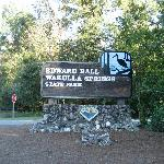 Sign at the park entrance.