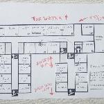 Map of Rooms - Be sure to get one facing the water.
