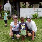 Us with one of the village kids