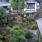 View of the Japanese garden from our room