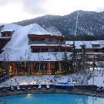 First snow at Lake Tahoe-pool view