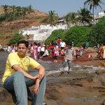 me at anjuna beach ,goa