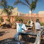 Having breakfast at the Riad